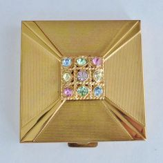VOLUPTE Jeweled Powder Compact in Orig. Box from seasonspast on Ruby Lane