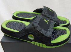 2c7f08a9f32894 Details about NEW IN BOX JORDAN JORDAN RETRO HYDRO XIII 13 BLACK ALTITUDE  GREEN 684915-025. eBay. Nike SlidesJordansNike Slippers