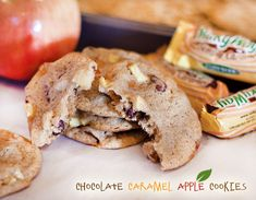 Chocolate Caramel Apple Cookies