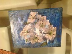 Caja con textura y decoupage