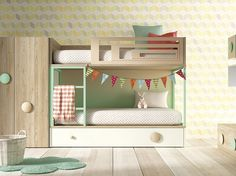 Youth bedroom for two brothers Kid Beds, Bunk Beds, Girls Bedroom, Bedroom Decor, Beds For Small Spaces, Creative Kids Rooms, Student Room, Kids Room Design, Little Girl Rooms