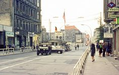 Checkpoint Charlie in Berlin 1967