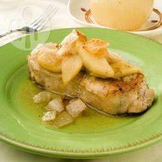 Chuletas de puerco con manzana @ allrecipes.com.mx
