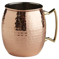 Moscow Mule Copper Mug---we have 4 of these, but we'd love 4 more! Copper Moscow Mule Mugs, Copper Mugs, Copper Utensils, Copper Glass, Mugs Set, Tea Mugs, Best Moscow Mule, Diy Gifts For Men, Guy Gifts