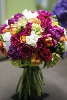 roses, hydrangea, bridal bouquet, hypericum berry, peonies