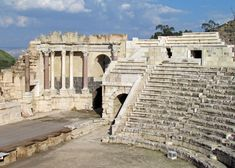 Roman theater at Beit Shean, Israel - Travel Photos by Galen R Frysinger