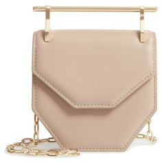 Women's M2Malletier Mini Amor Fati Single Calfskin Leather Shoulder... ($1,431) ❤ liked on Polyvore featuring bags, handbags, shoulder bags, miniature purse, mini handbags, geometric handbag, calf leather handbags and shoulder handbags