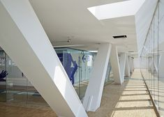 Villa Méditerranée in Marseille, France, by Stefano Boeri with a cantilevered exhibition floor and an underwater conference suite.