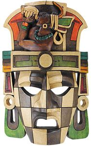 Harkening back to Meso-American times, these Mayan masks invoke the mystery and exuberance of an ancient culture. Mayans had a unique, ritualistic and real connection to nature, art and astrological systems. Mexican Mask, Mexican Folk Art, Mayan Mask, Arte Latina, Ceramic Mask, Mexico Art, Africa Art, Masks Art, African Masks