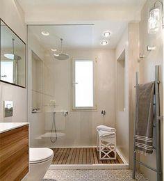 Bathroom remodel love the teak flooring in shower, love the flooring Bathroom Spa, Bathroom Renos, Laundry In Bathroom, Small Bathroom, Master Bathroom, Bathroom Basin, Bathroom Ideas, Bathroom Layout, Bathroom Storage