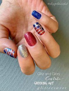 Nail Color Combos, Nail Colors, Firework Nails, Usa Nails, Patriotic Nails, Vacation Nails, Color Street Nails, Nails Inspiration, Beauty Nails