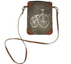 Vintage Bicycle Crossbody Bag