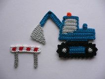 Excavator (without barrier) - crochet application - Excavator (without barrier) – crochet application The Effective Pictures We Offer You About car c - Crochet Applique Patterns Free, Crochet Animal Patterns, Stuffed Animal Patterns, Crochet Motif, Owl Patterns, Blanket Crochet, Easter Crochet, Crochet Bunny, Crochet Toys
