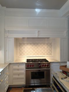 Cabinets, would work with our layout to do cabinets like this, but is it enough counter space by the stove?