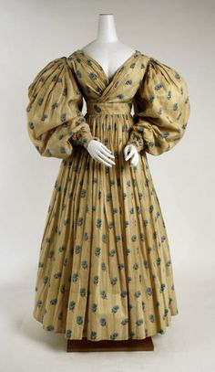 Dress ca. 1829 via The Costume Institute of The Metropolitan Museum of Art