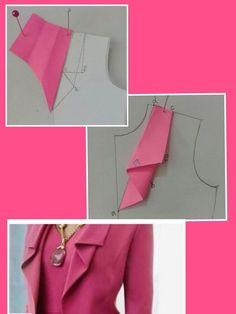 Costura e ModelalModelalgemp i gem Dress Sewing Patterns, Clothing Patterns, Skirt Patterns, Fashion Sewing, Diy Fashion, Sewing Collars, Costura Fashion, Sewing Blouses, Blog Couture