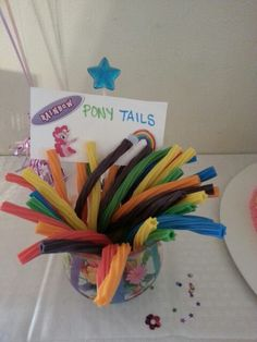 Love this for in the buffet Print of pictures of each pony and stick to card for games and labels etc