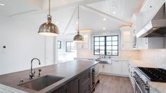 The industrial-inspired farmhouse in North Hermosa Beach has four bedrooms and five bathrooms in 4,800 square feet of living space.