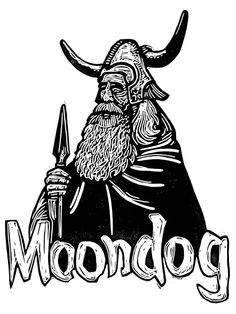Moondog linocut by TheBlackGoldPress on Etsy, £20.00