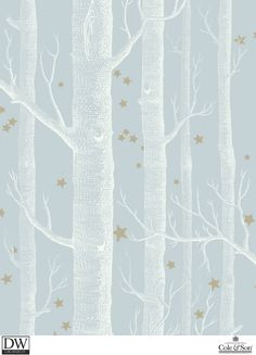 WOODS & STARS POWDER BLUE  [Cole-103-11051] Cole and Son Since 1875…