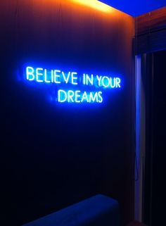 #neon #believe #blue