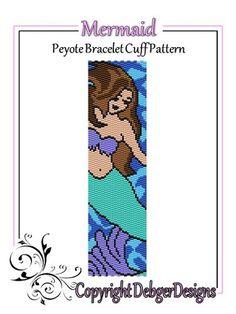 Mermaid++-+Beaded+Peyote+Bracelet+Cuff+Pattern