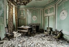 Piano in abandoned palace  by odin's_raven, via Flickr