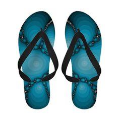 Abstract Summer Flip Flops Blue
