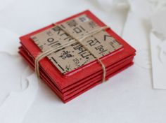 Scarlet Square Coaster Set - papertree