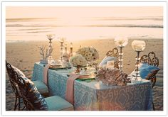 Look how beautiful a beach wedding can be!  Design by Alchemy Fine Events.  Photo by Justin Lee
