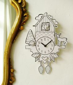 Could I buy a simple clock face kit and then make a paper cuckoo clock around it? Probably.  It wouldn't be as fun as a real one, but Julia would like it.