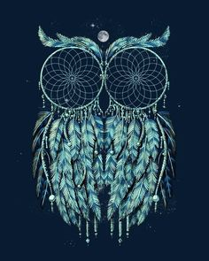 Dream catchers owl Love (: possible tattoo