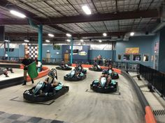With Go-Karts, Veloce Indoor Speedway Offers An Adrenaline-Filled Escape Like No Other Indoor Go Karts, Indoor Go Kart Racing, Triumph Motorcycles, Custom Motorcycles, Speed Fun, High Speed, Scooters, Ducati, Chopper