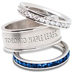 Logo Art Indianapolis Colts Ladies Spirit Crystal Stacked Ring Set is available now at FansEdge. Mavericks Logo, Indianapolis Colts, Stainless Steel Rings, Art Logo, Stacking Rings, Jewelry Sets, Creations, Wedding Rings, Bling