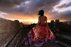 KTRCOLLECTION Abstract Print Maxi Dress | Chasing Sunsets. | KTRstyle | Dumbarton bridge photoshoot