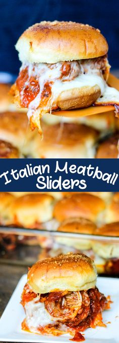 Italian Meatball Sliders are the perfect weeknight dinner. Quick, easy, and majorly delicious, this is a recipe your whole family will devour! #ad