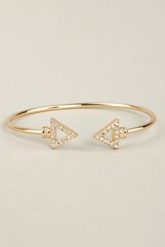 The Arrows by Any Other Name Gold Bracelet features a rounded gold band capped off by tall arrow points set with diamond-like rhinestones! Diamond Bracelets, Ankle Bracelets, Silver Bracelets, Silver Earrings, Jewelry Bracelets, Arrow Jewelry, Jewlery, Chain Bracelets, Dainty Bracelets