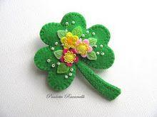 #Felt #Shamrock {pin} for St. Patricks Day