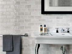 Rustic Bathroom small bathroom Bathroom Design Inspiration, Pictures, Remodels and Decor Grey Wall Tiles, Grey Subway Tiles, Grey Walls, Bad Inspiration, Bathroom Inspiration, Interior Inspiration, Bathroom Renos, Small Bathroom, Tile Bathrooms