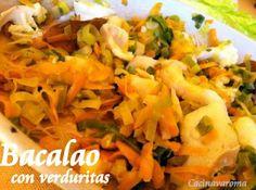 Cocina Varoma. Bacalao con verduritas
