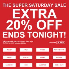 Ends tonight: extra 20% off + great specials!  https://freshpickeddeals.com/macys.com/ends-tonight-extra-20-off-great-specials-656178