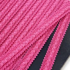12mm Gimp Braid With Small Plait 9844 - Bright Pink 0171