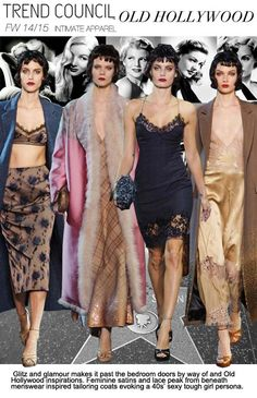 F/W 2014-15, women's intimates, key trends, old hollywood