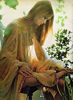 1960s bohemian fashion.  LOVE IT!..another embellished bottle idea..