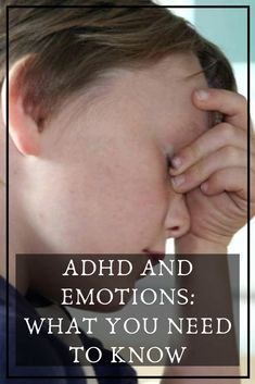If your child has ADHD, you probably know about the major symptoms. Trouble focusing. Impulsivity. And in some cases, hyperactivity. But many kids with ADHD (also known as ADD) share another symptom that often isn't mentioned. They have trouble managing their emotions. Adhd Facts, Impulsive Behavior, Mental Health Disorders, Different Emotions, Adhd Kids, Hurt Feelings, Everyone Else, Need To Know, Cases