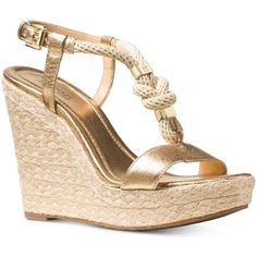 Michael Michael Kors Holly Espadrille Wedge Sandals ( 105) ❤ liked on  Polyvore featuring shoes 29e2e08ecc1