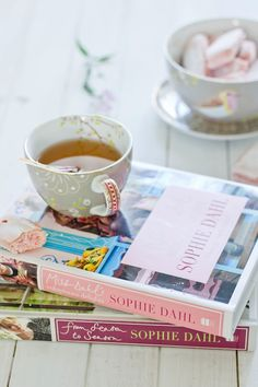 Sophie Dahl cookbooks. #books #reading #tea