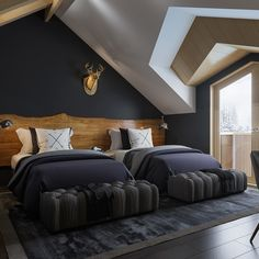 Bedroom in guesthouse on Behance