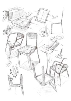 LE FAUTEUIL INDUSTRIEL by CARREFOUR Design - observational exploration sketches