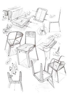 LE FAUTEUIL INDUSTRIEL by CARREFOUR Design - observational exploration sketches